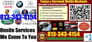 mobile mechanic tampa 813 343 4154 auto car repair service come to you we fix foreign import. Black Bedroom Furniture Sets. Home Design Ideas